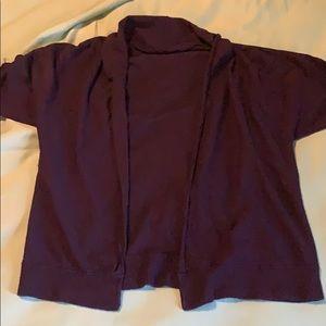 Short sleeved open front cardigan